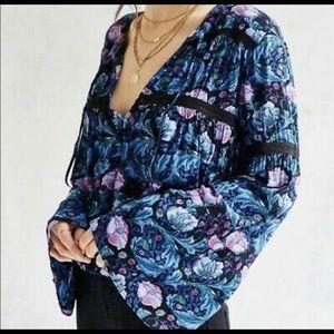 Kimchi Blue UO floral print bell sleeve boho gypsy